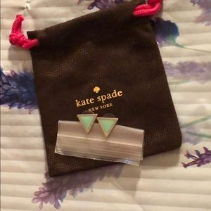 AUTHENTIC&RARE Kate Spade Heritage Triangle Studs